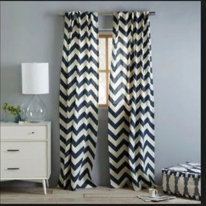 "West Elm Chevron Zig Zag Drapes Panels 48"" X 96"""